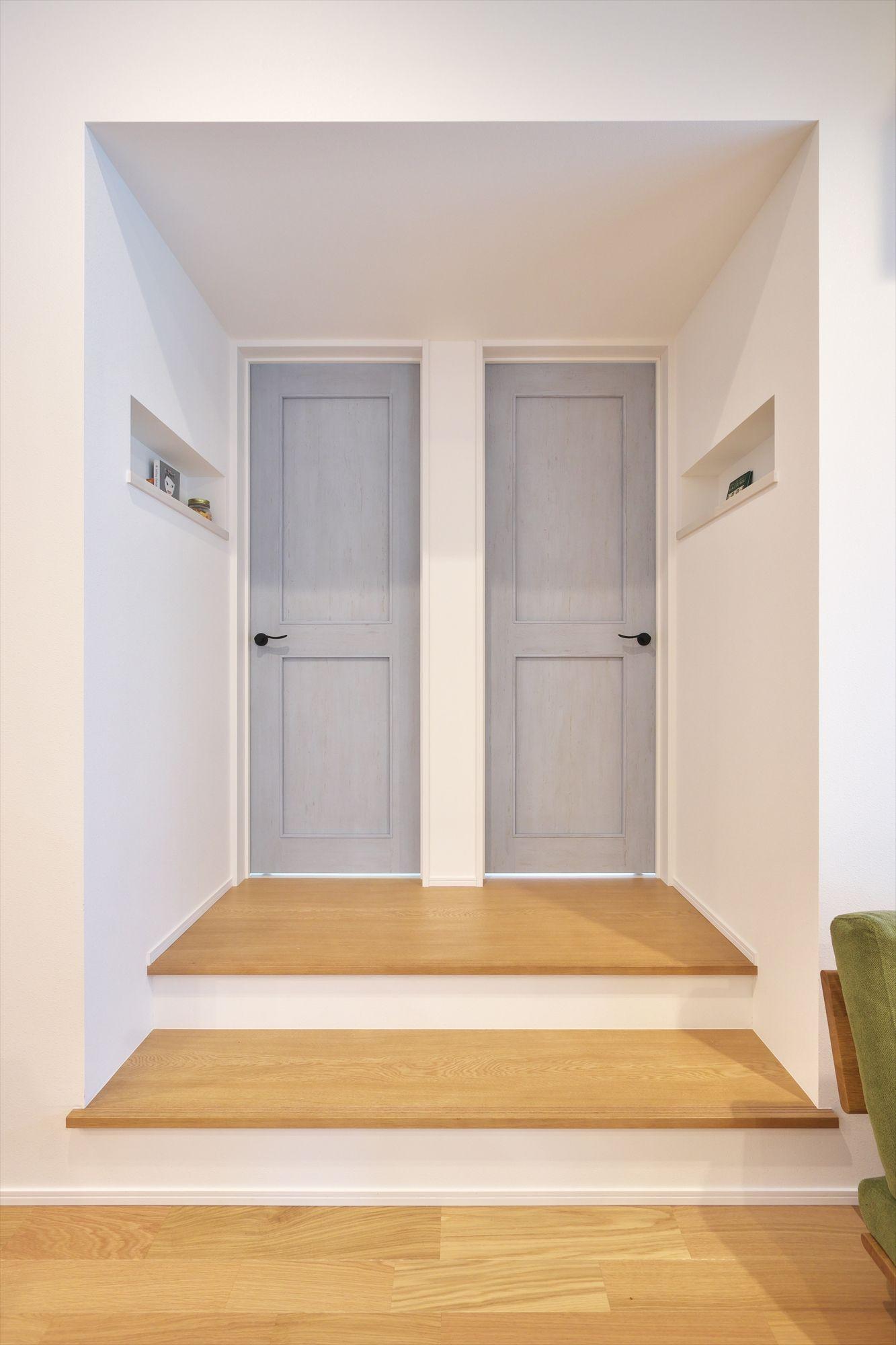 子供部屋 遊びのスキップ Lixil建具 ニッチ アーチ型ドア 建具 住宅