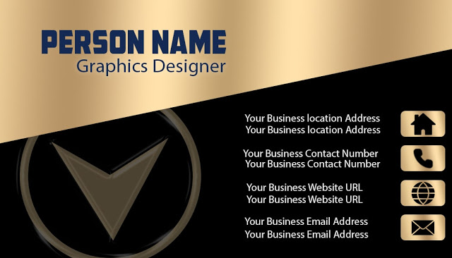 Download Black And Gold Business Card For Free Gold Business Card Business Card Design Creative Elegant Business Cards Design