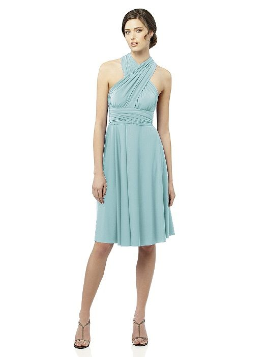 Twist Wrap Dress Short Flattering Bridesmaid Dresses