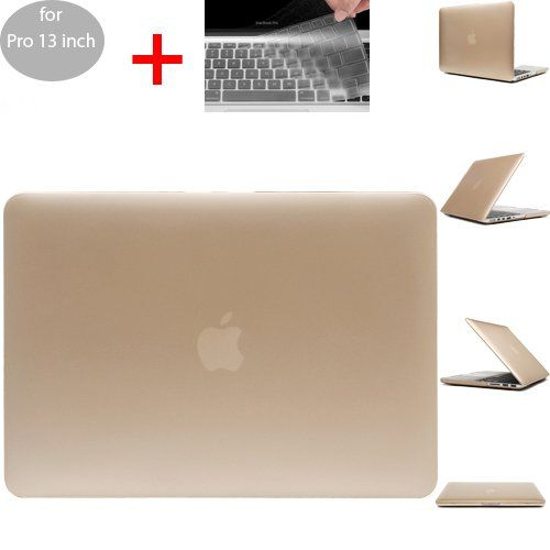 SwiftBox Shimmering Metallic Gold Shine Thru HardShell Case for Macbook Pro 13 inch
