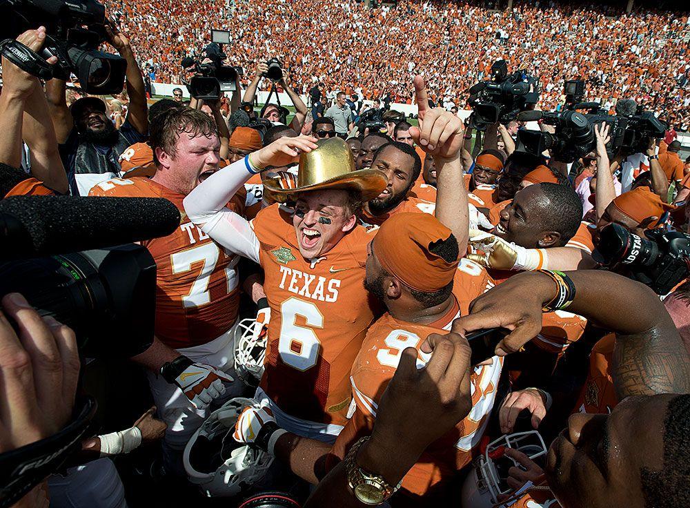 Pin on Texas Football vs. Oklahoma [Oct. 12, 2013]