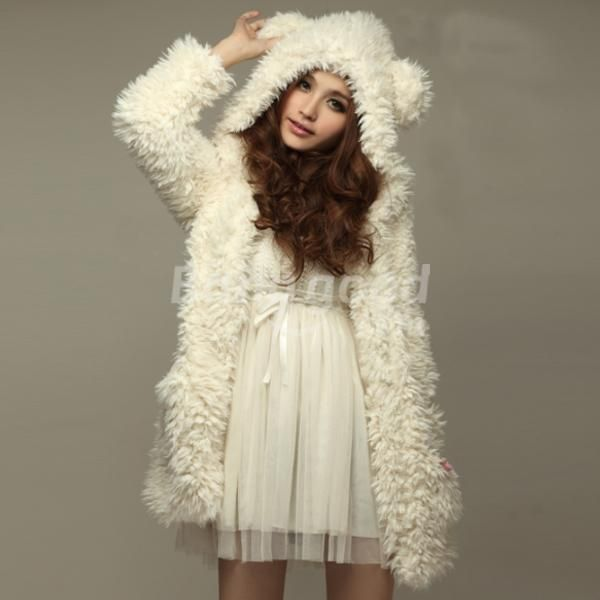 I found 'Sweet Lovely Girls' Fluffy Long Sleeve Hooded Faux Fur Outwear' on Wish, check it out!