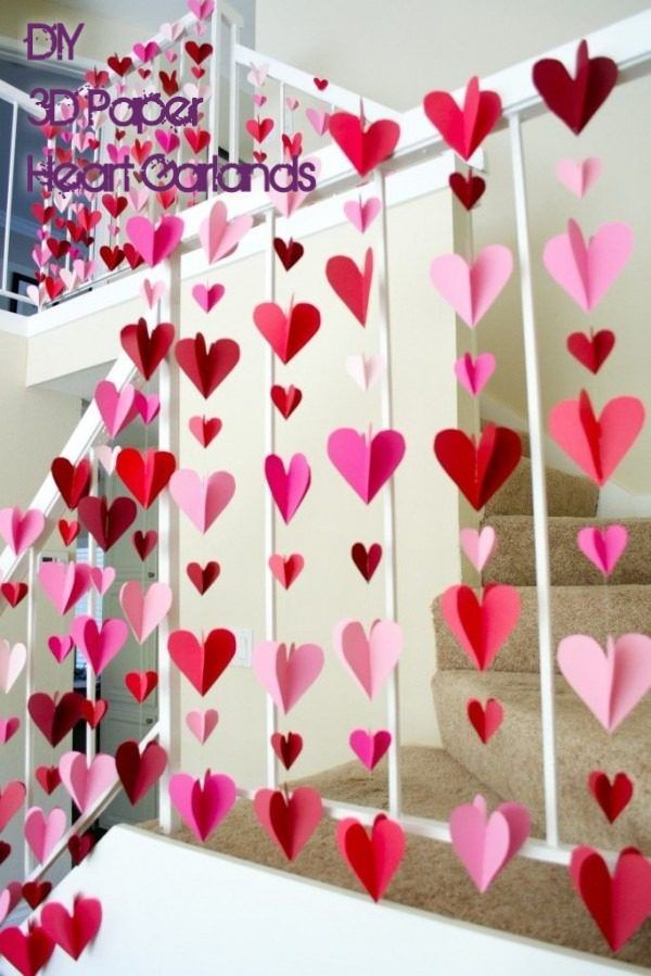 20 Cute DIY Valentine\'s Day Decorations to Show Your Love   Paper ...
