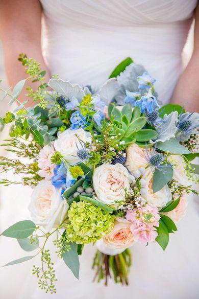Rachel Alan Peach Cornflower Blue Historic Rice Mill Charleston Wedding Cornflower Wedding Bouquet Cornflower Wedding Beach Wedding Flowers