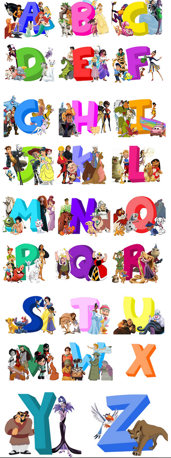 Abc Of Disney Disney Alphabet Disney Fun Disney Pixar