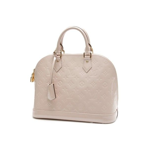 333871bd0da3 Pre-Owned Louis Vuitton Rose Ballerine Monogram Vernis Alma PM Bag ...