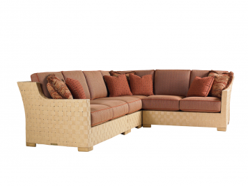 4-Piece Sectional Combined Frame & Boxed Edge Cushion Set | Tommy Bahama Outdoor | Home Gallery Stores