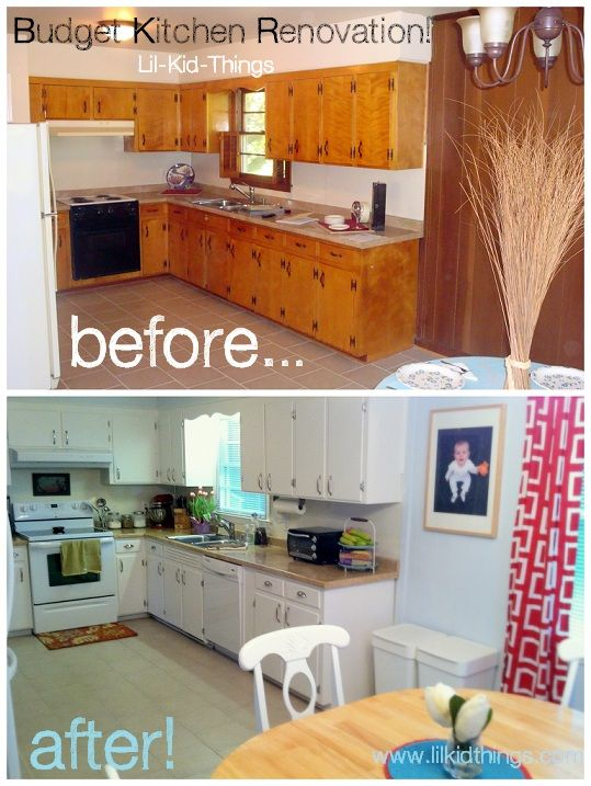 Kitchen Remodel Before And After On A Budget