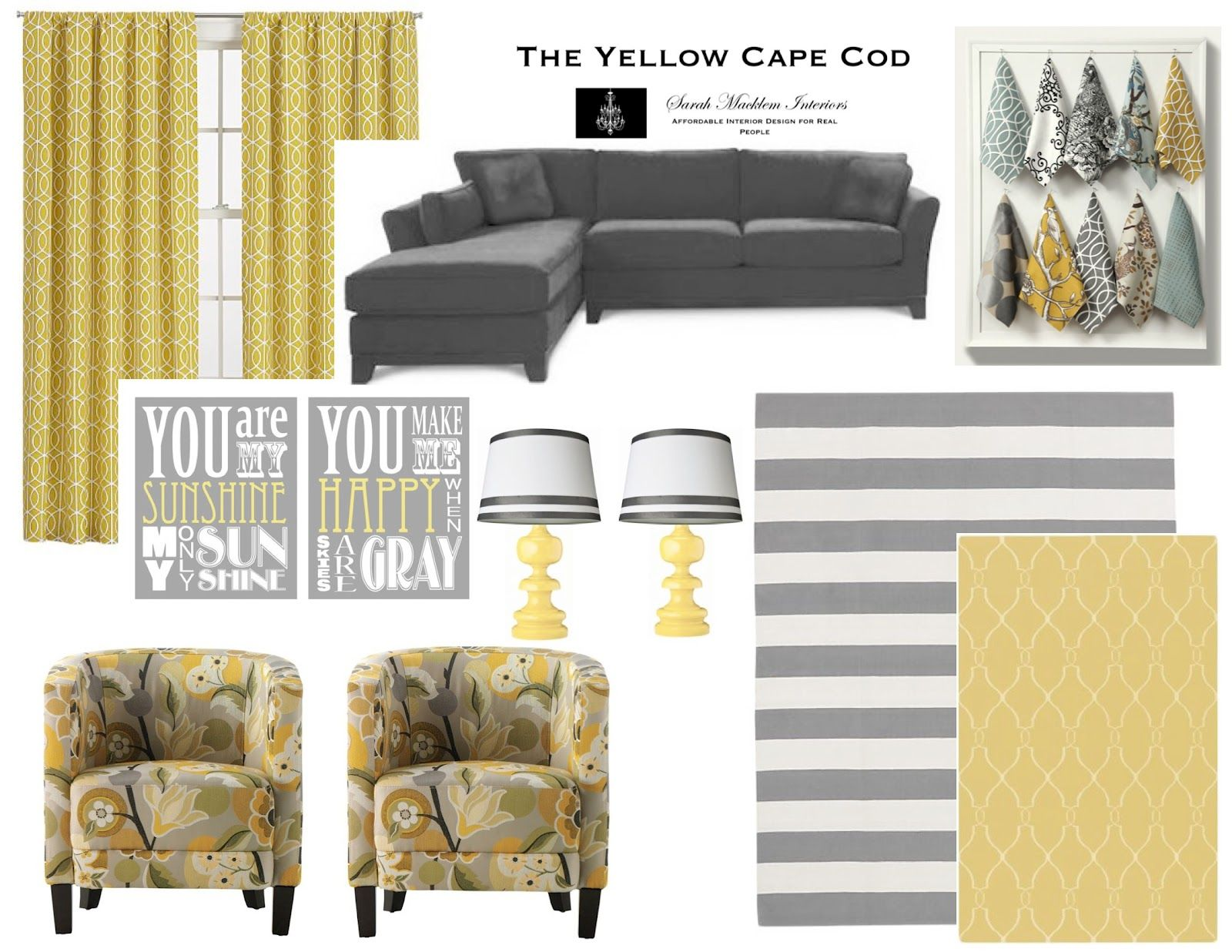 The Yellow Cape Cod: gray yellow I hope this doesn\'t go out of style ...