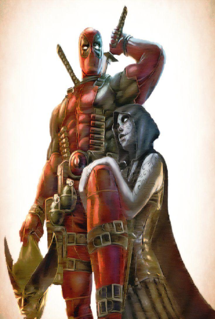 #Deadpool #Fan #Art. (Deadpool and Lady Death) By:TRaNC3MoNST3R. (THE * 5 * STÅR * ÅWARD * OF: * AW YEAH, IT'S MAJOR ÅWESOMENESS!!!™) [THANK U 4 PINNING!!!<·><]<©>ÅÅÅ+(OB4E)