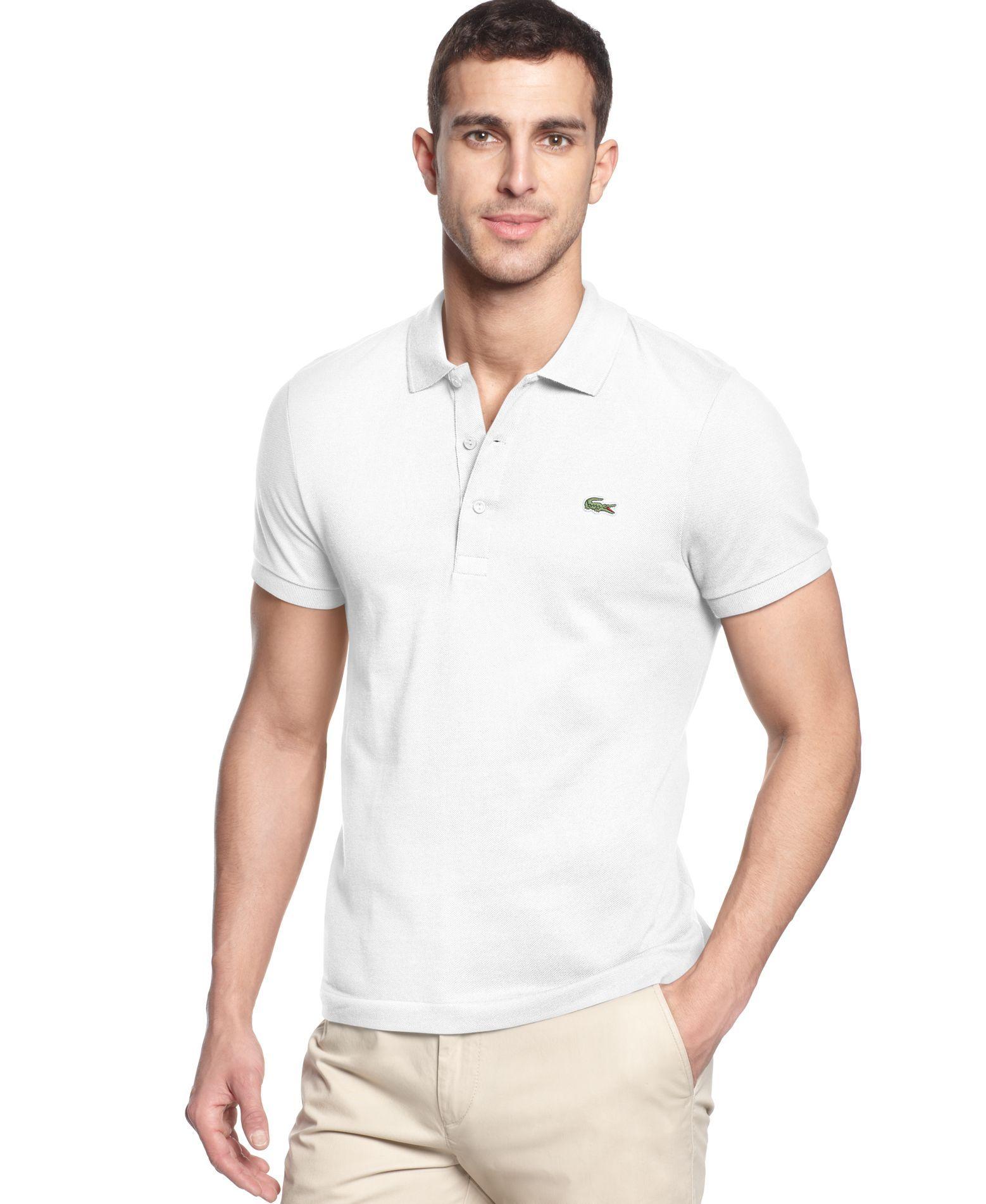 Lacoste Men's Stretch Cotton Slim Fit Polo Shirt & Reviews - Polos ...