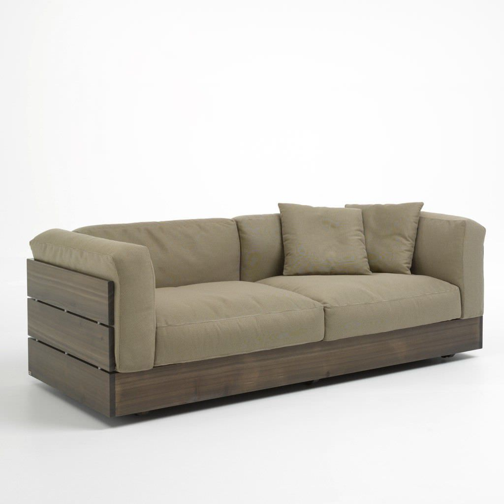 Contemporary garden sofa stave by piero lissoni for Modern sofa chair