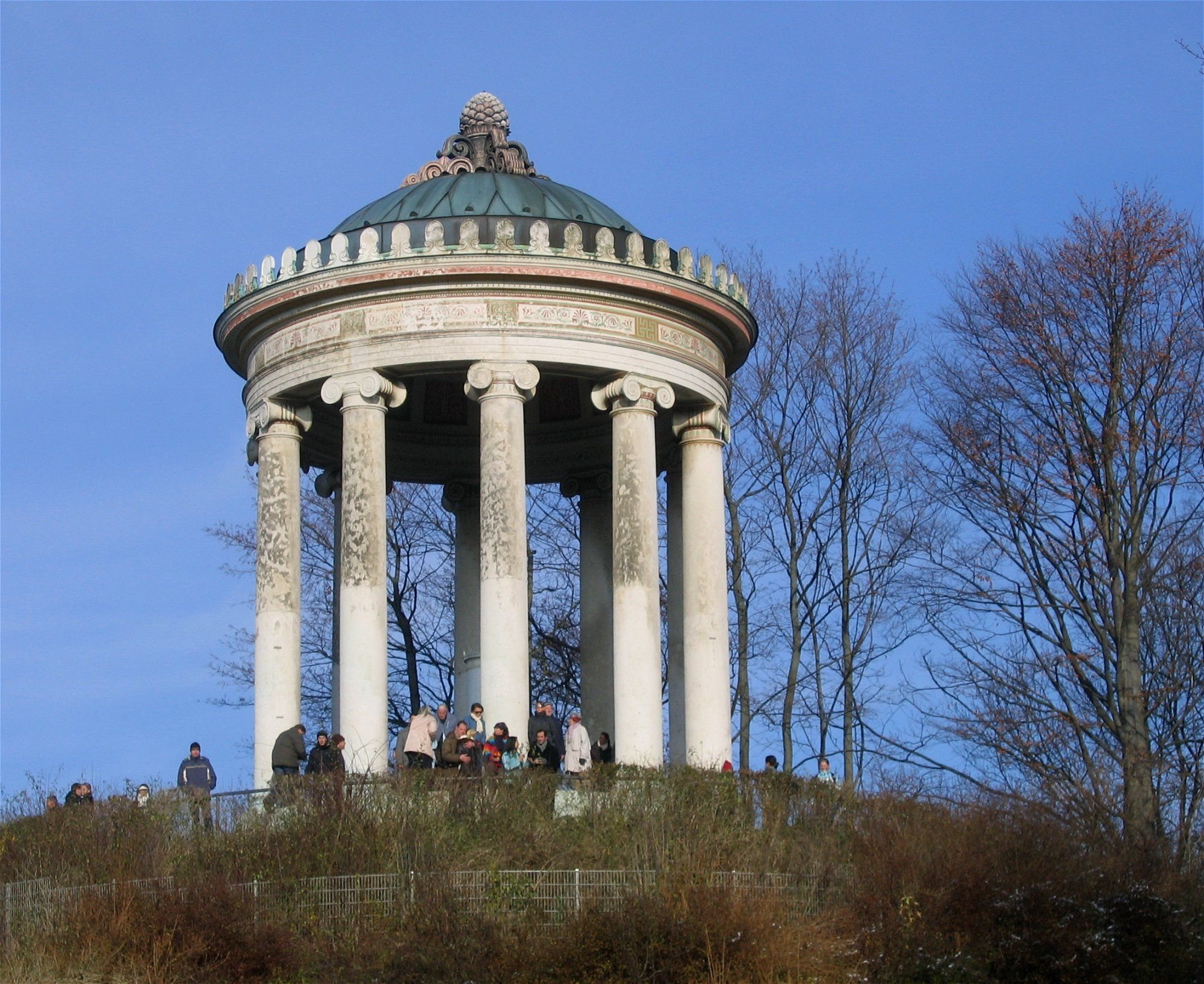 Cute TH CENTURY Neo Classicism Germany Leo Von Klenze Monopteral temple in the English Garden Munich Pinterest Munich Temple and