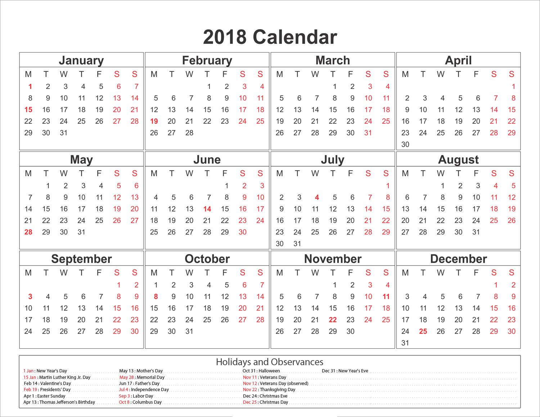 Free Blank Calendar 2018 Template Calendar 2019 Printable Calendar 2019 Template Calendar 2019 With Holidays