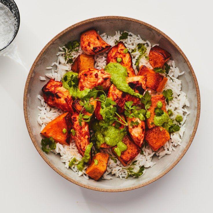 Tandoori Chicken Bowls #tandoorichicken