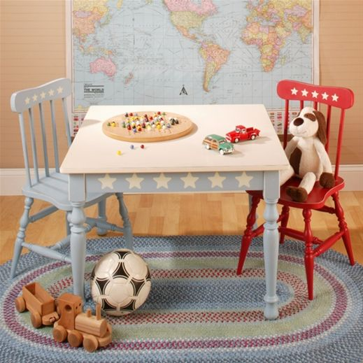 New Arrivals Farmhouse Play Table and Chair Set | Nursery ideas ...