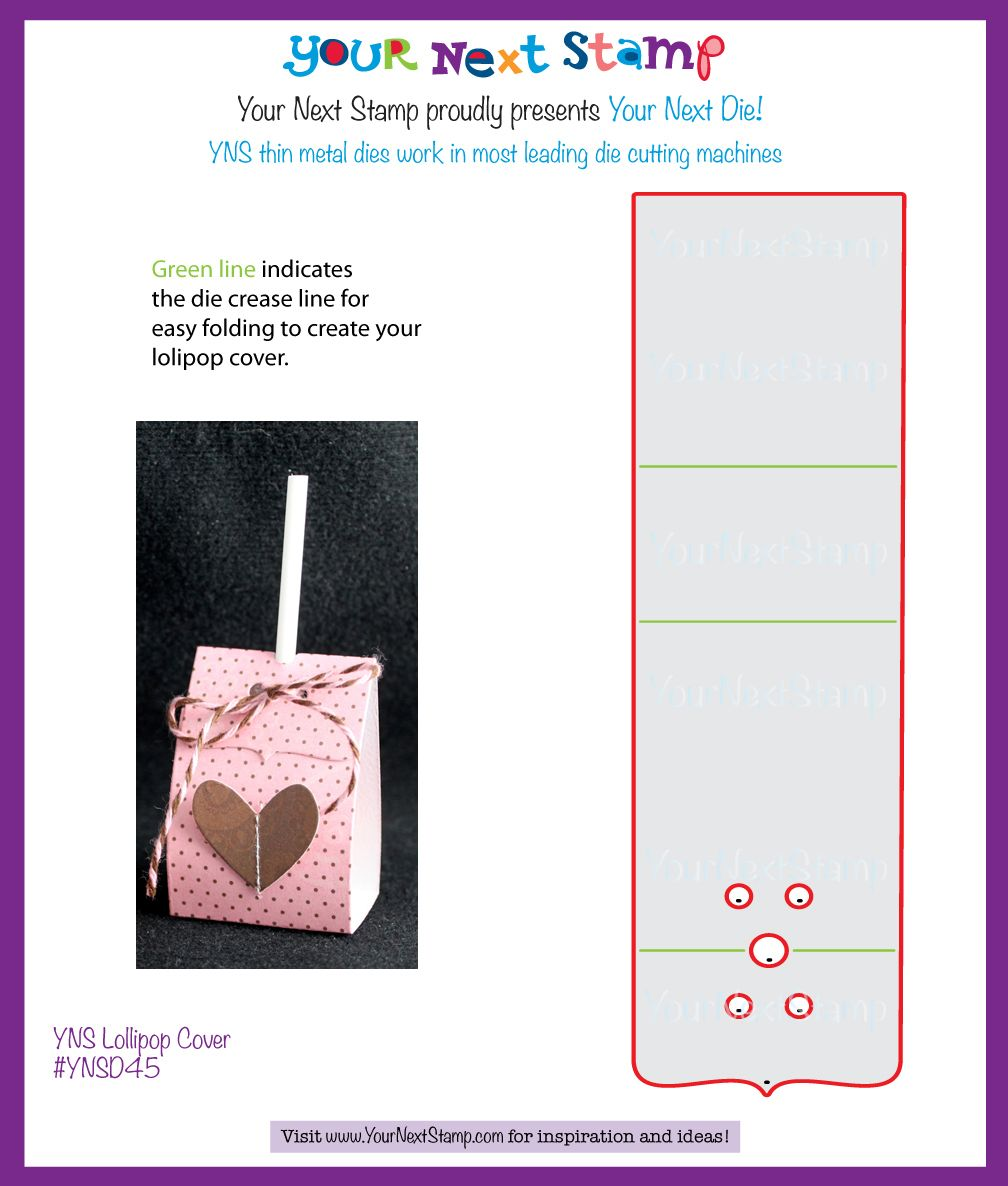YNS Lollipop Cover Die [YNSD45] : Your Next Stamp | Lollipop cover ...