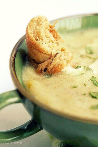 Cheesy potato soup recipe made lighter for summer