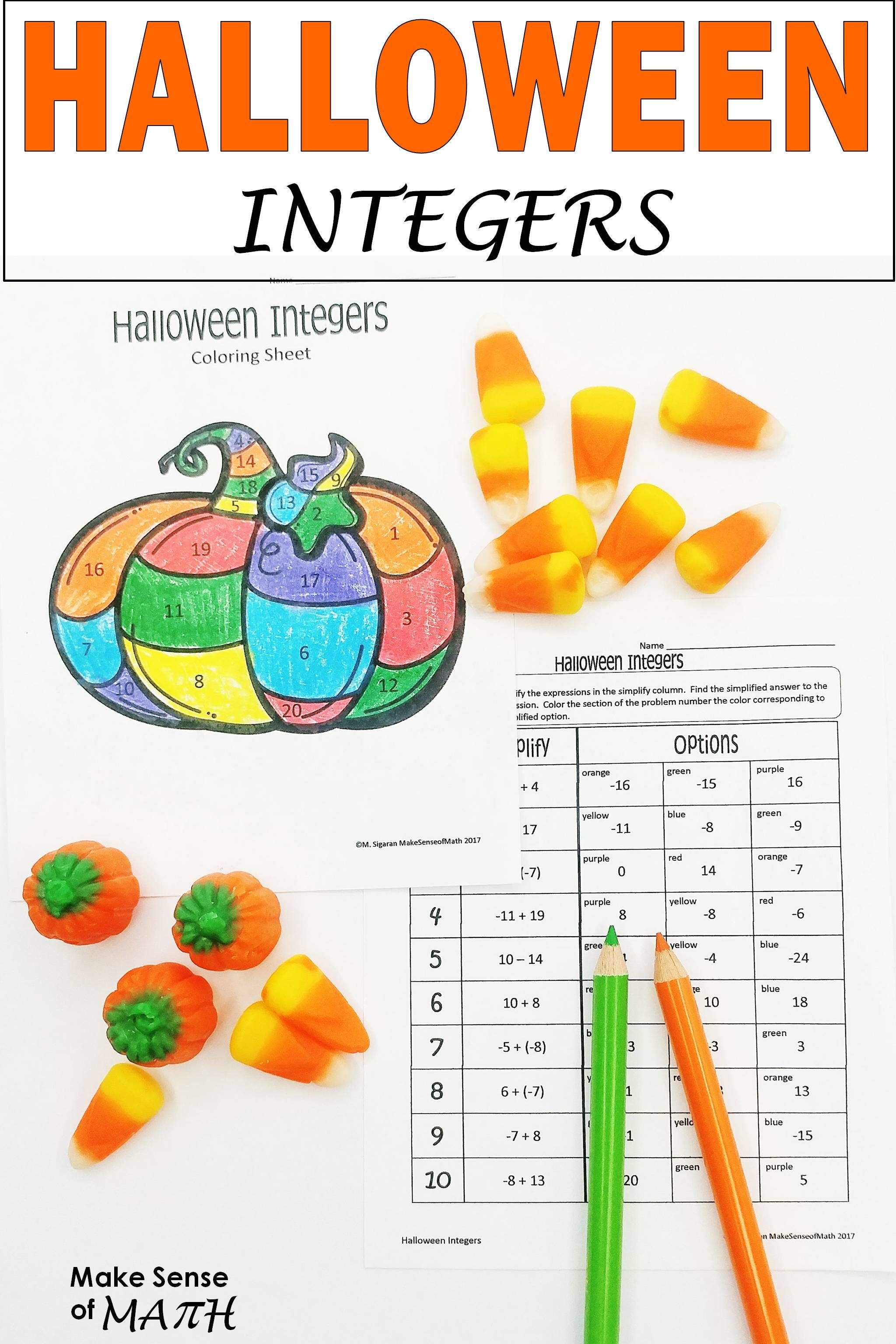 Fun Halloween Math Activity To Practice Adding And