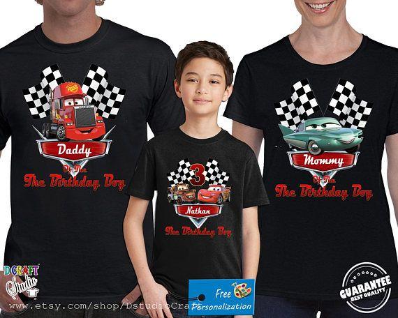 Disney Car Birthday Shirt For Family Personalized Birthday Fiestas De Cumpleanos De Autos Cumpleanos De Motivo De Disney Cars Fiesta De Cumpleanos Infantil