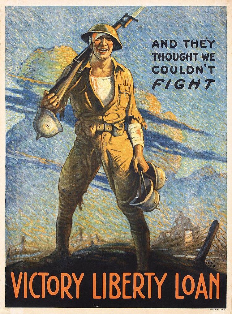 Original 1918 American World War I Propaganda Poster Propaganda Posters Ww1 Posters Military Poster