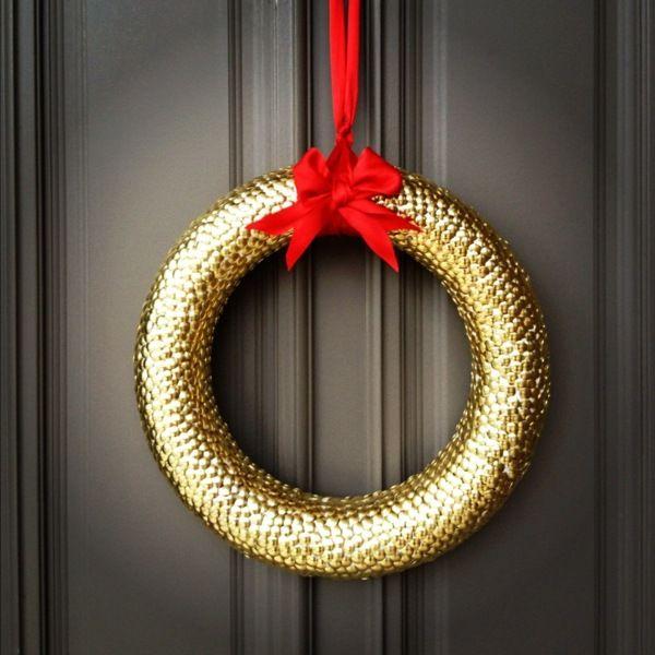 Türkranz Modern goldener türkranz weihnachten selber machen außergewöhnliche