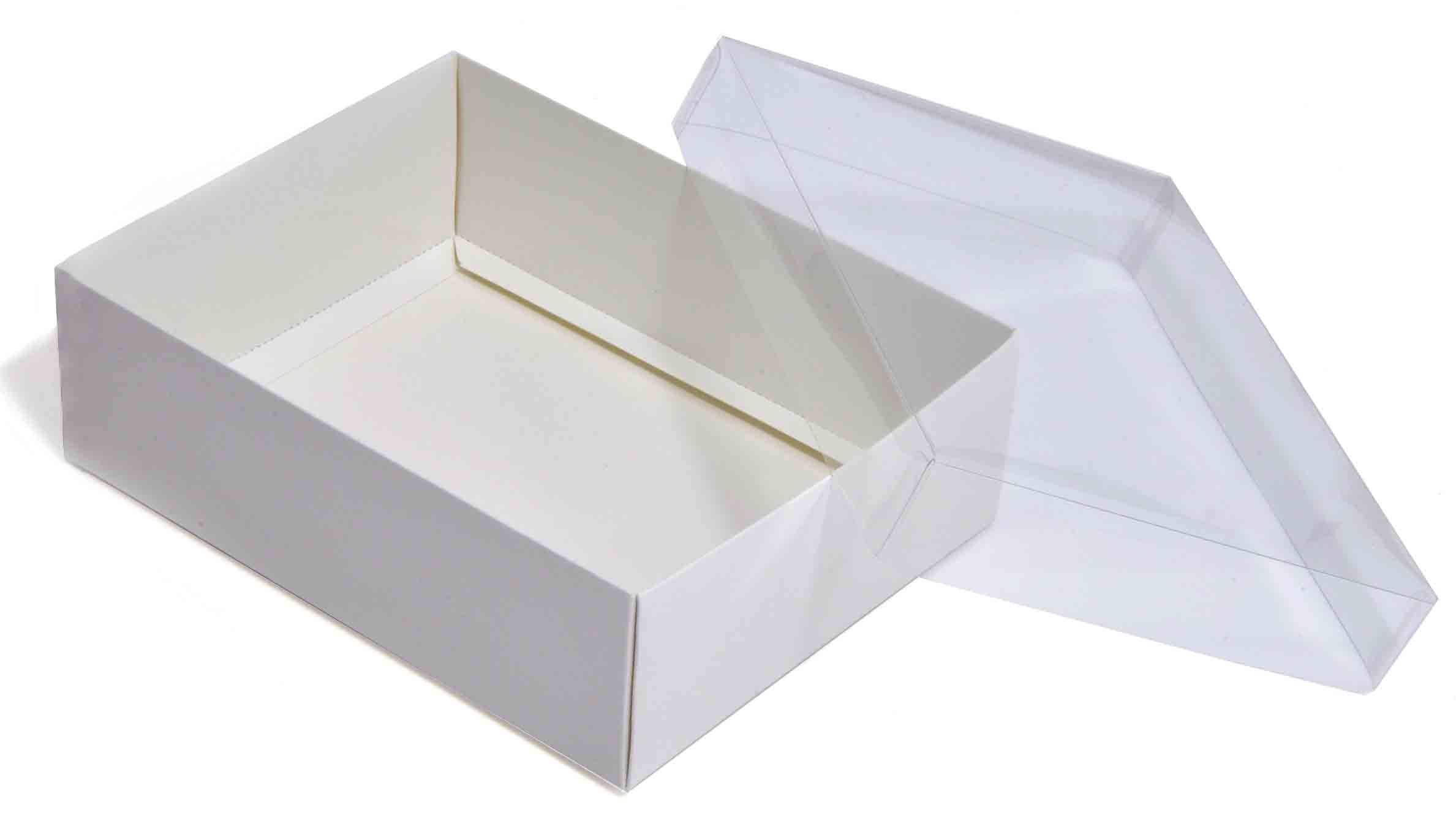 Large White Flat-packed recycled gift box with clear lid 165 x 125 x 50mm (CLRWH165)  sc 1 st  Pinterest & Large White Flat-packed recycled gift box with clear lid 165 x 125 x ...