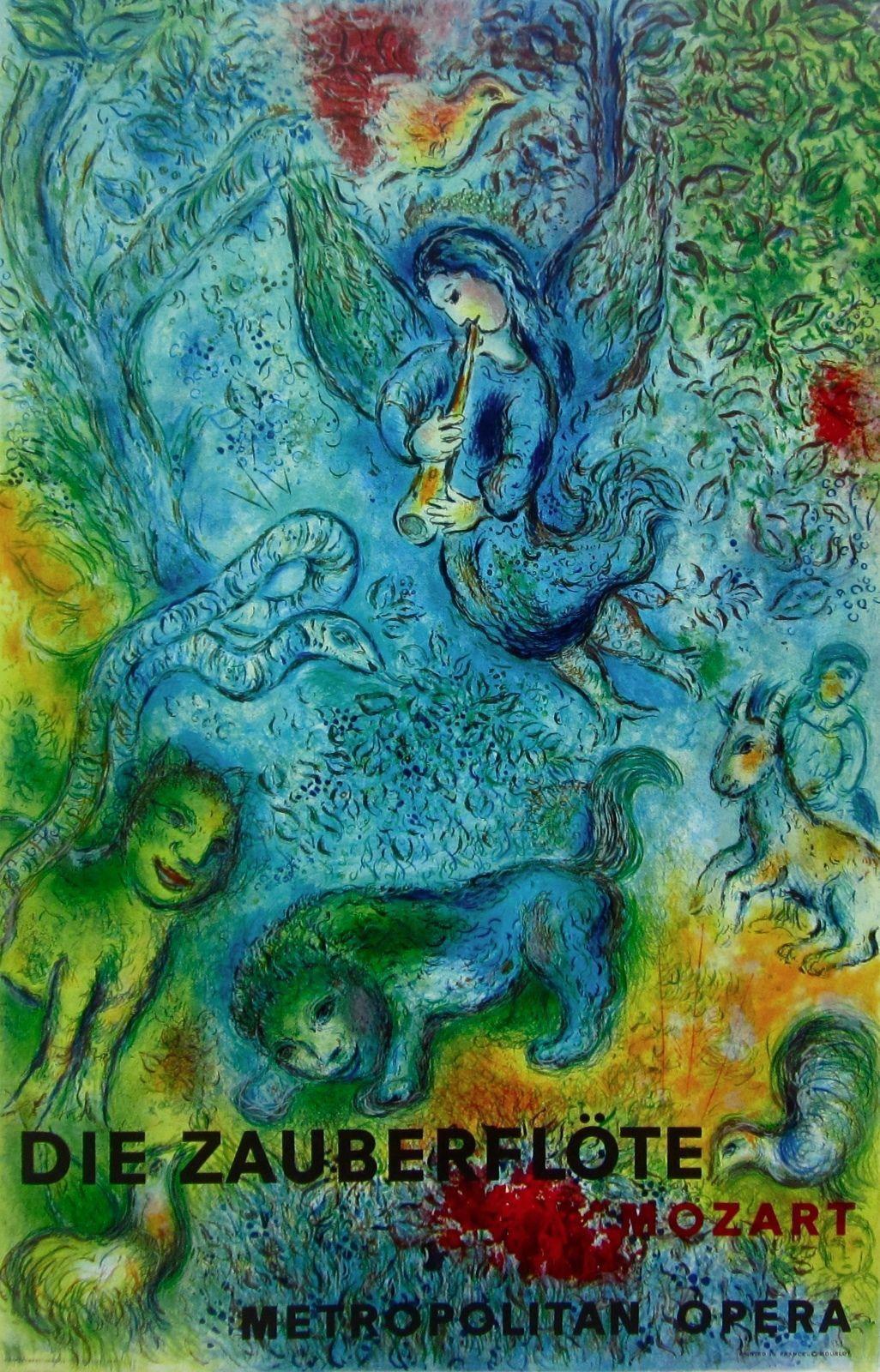 "Die Zauberflote /""Magic Flute/"" Mourlot Offset Print Marc Chagall"