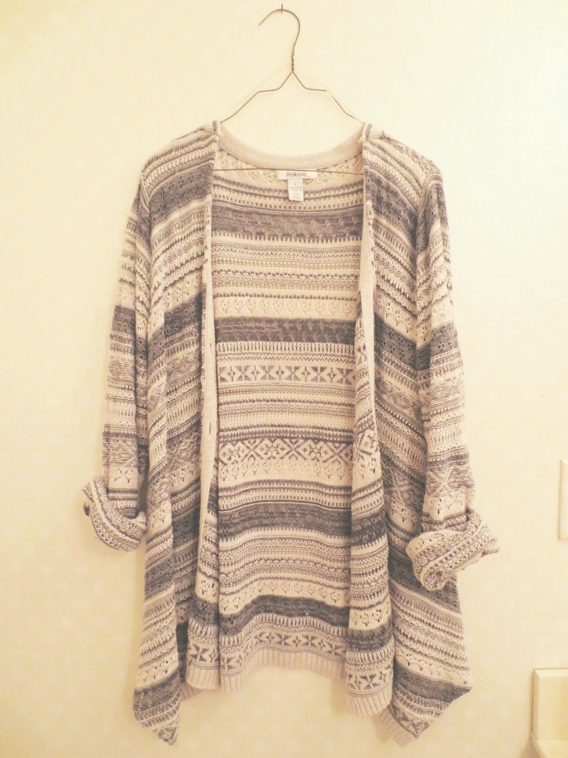 Oversized tribal knit cardigan from Little Distractions on ...