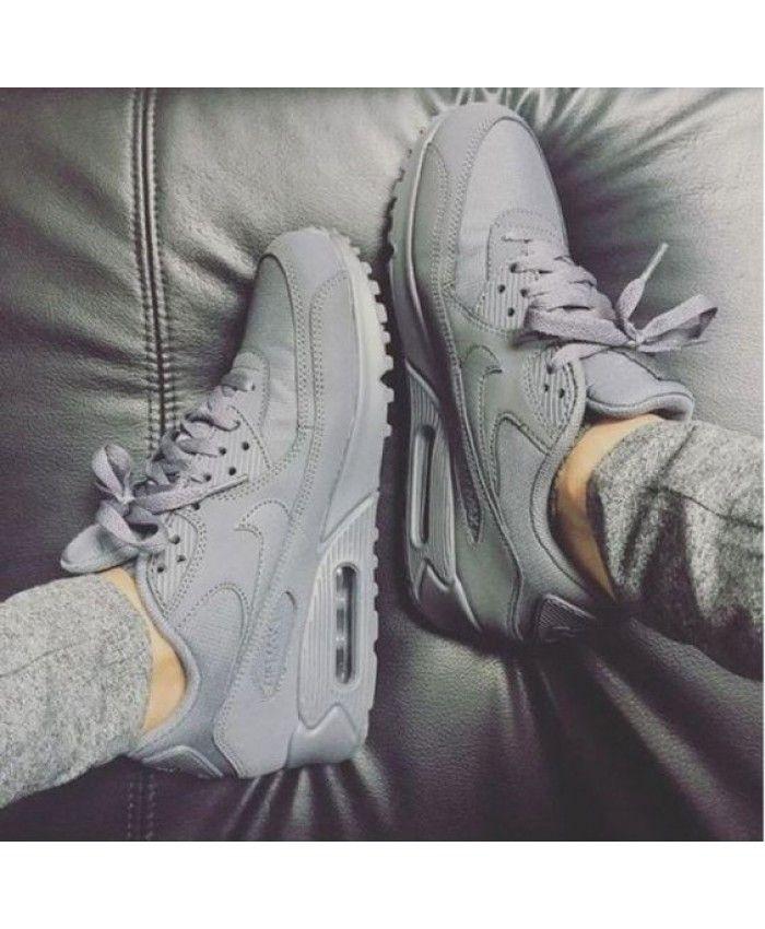 Nike Air Max 90 Essential Gris Espace | Sneakers, Nike shoes women ...
