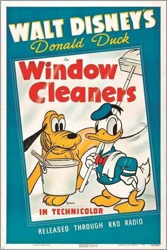walt disney/'s WINDOW CLEANERS vintage movie poster DONALD DUCK goofy 24X36