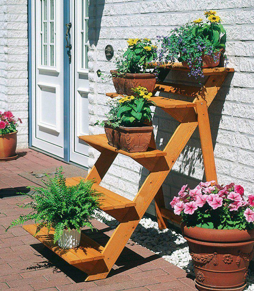 Rahmenholz Blumentreppe gross im line Shop von Ackermann