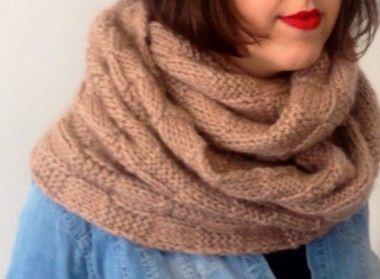 tricoter un snood long