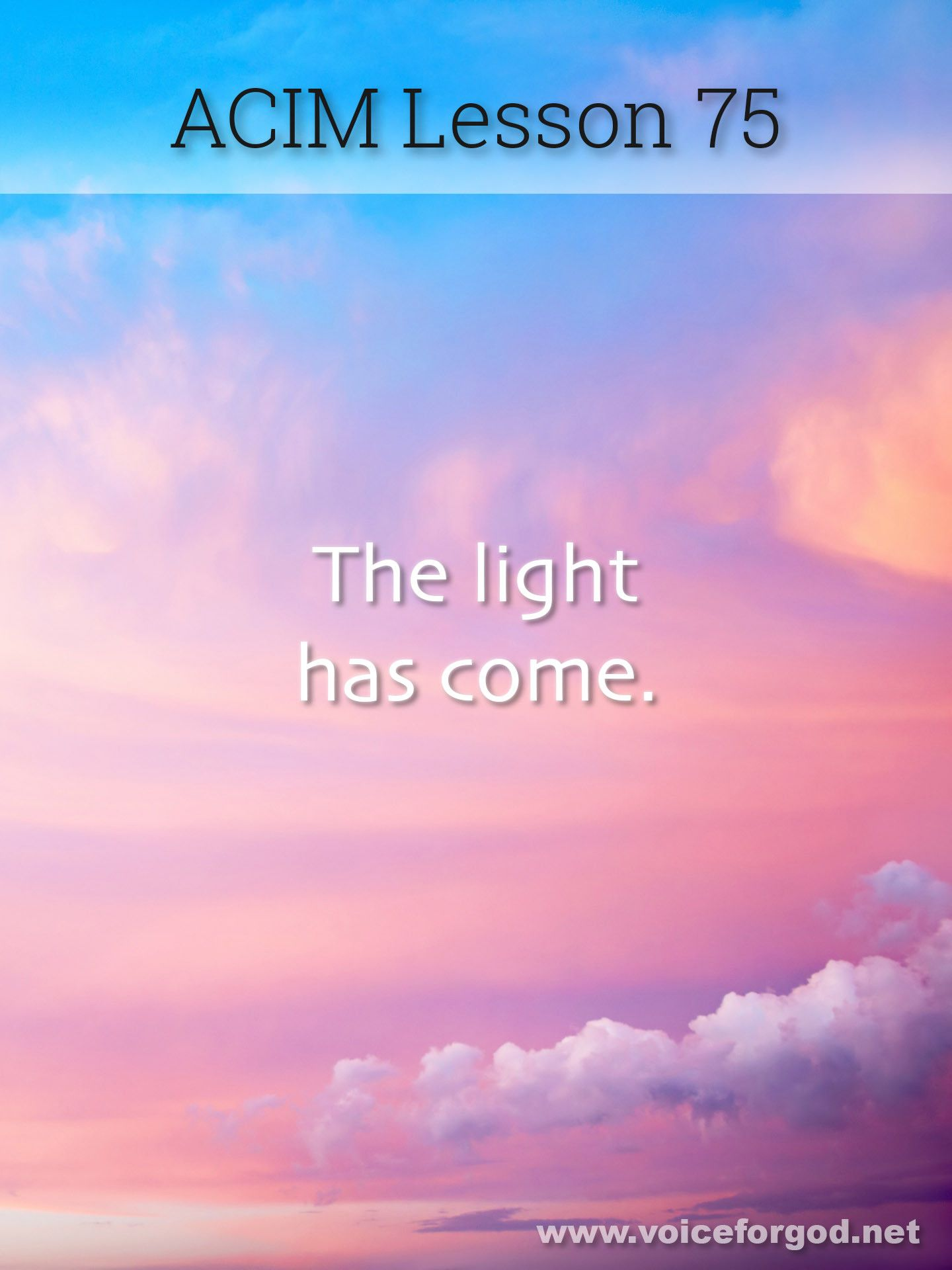 Acim Lesson 75 A Course In Miracles Workbook Lesson 75 With