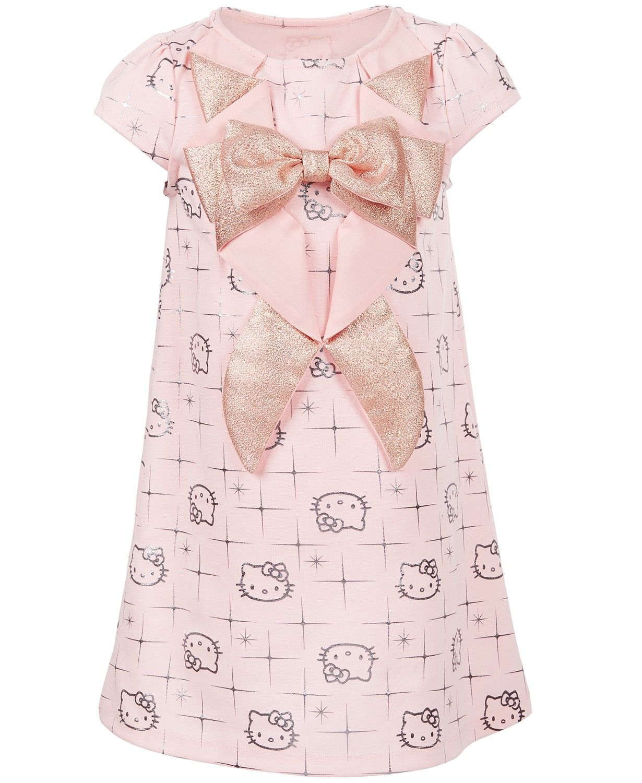 432731e0f Hello Kitty Little Girls Tuxedo-Style Printed Dress - Dresses - Kids -  Macy's