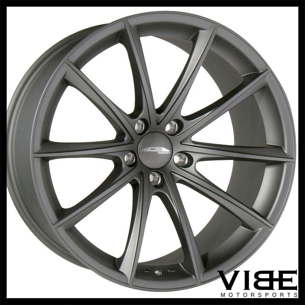 "20"" Ace Convex Titanium Concave Wheels Rims Fits Cadillac"