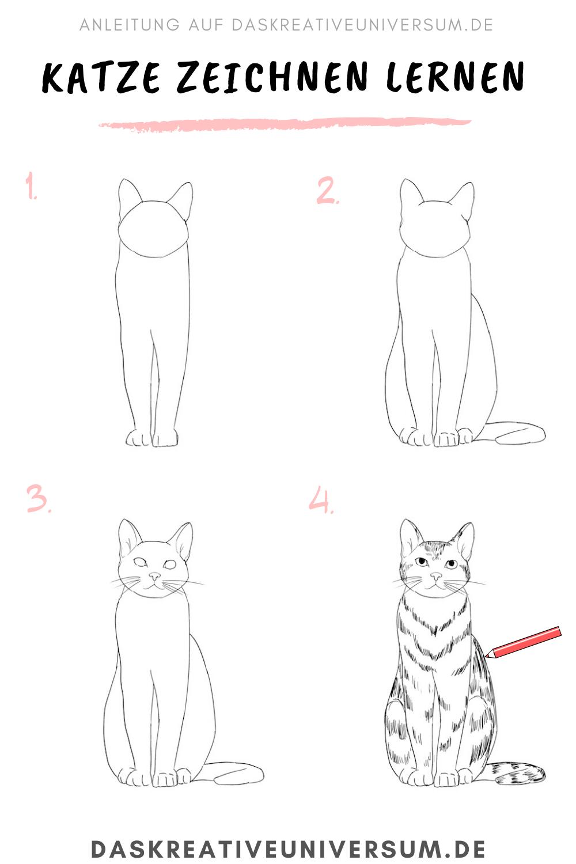 Katze Zeichnen Lernen Schritt Fur Schritt Anleitung Katze Zeichnen Zeichnen Lernen Katze Zeichnung Anleitung