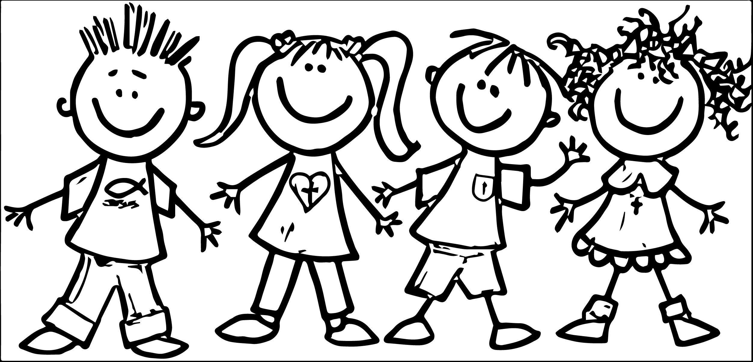 Free Preschool Clip Art Pictures Clipart Black And White Kids Clipart Coloring Pages For Kids