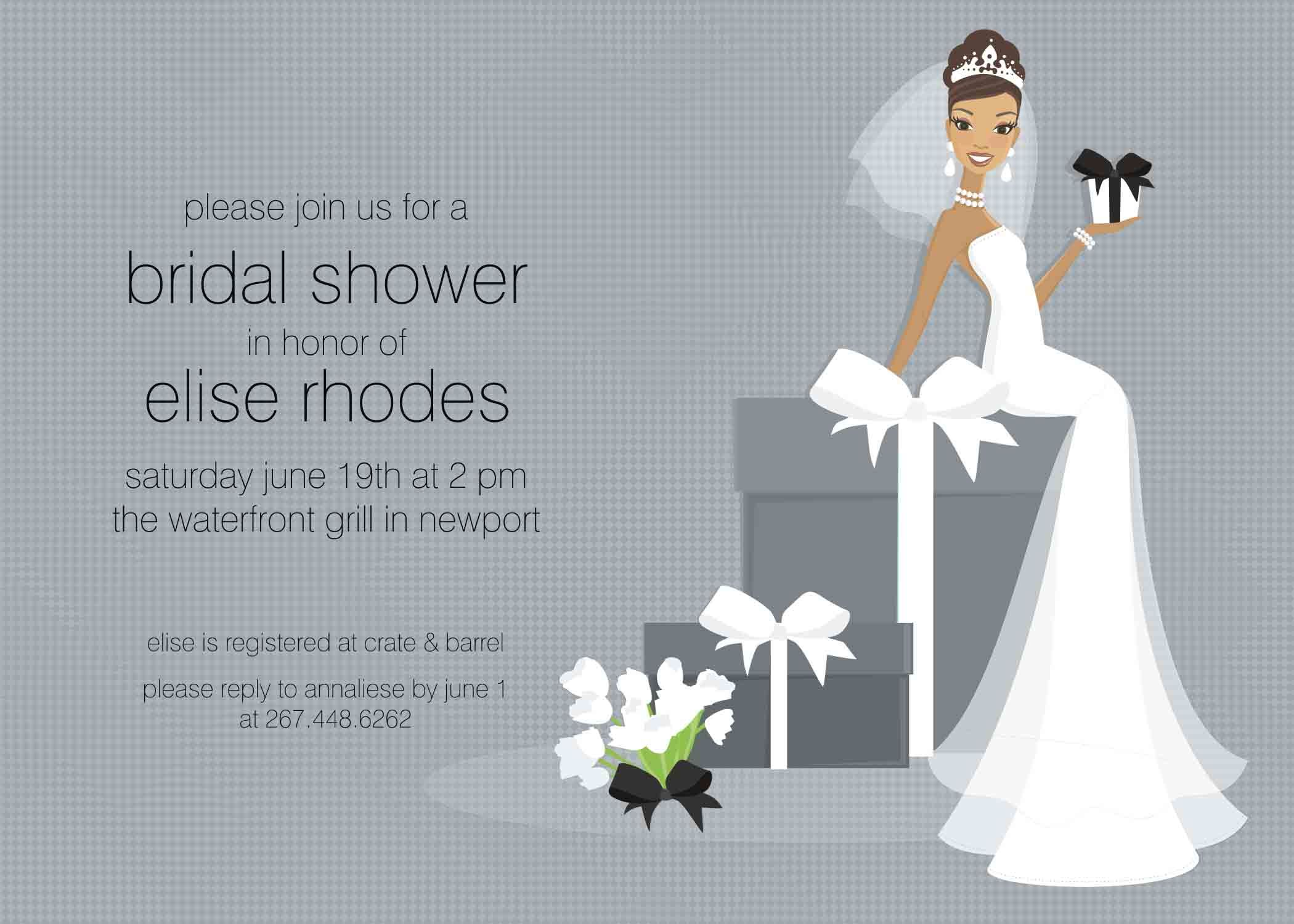 Free Bridal Shower Invitation Templates Wedding Free