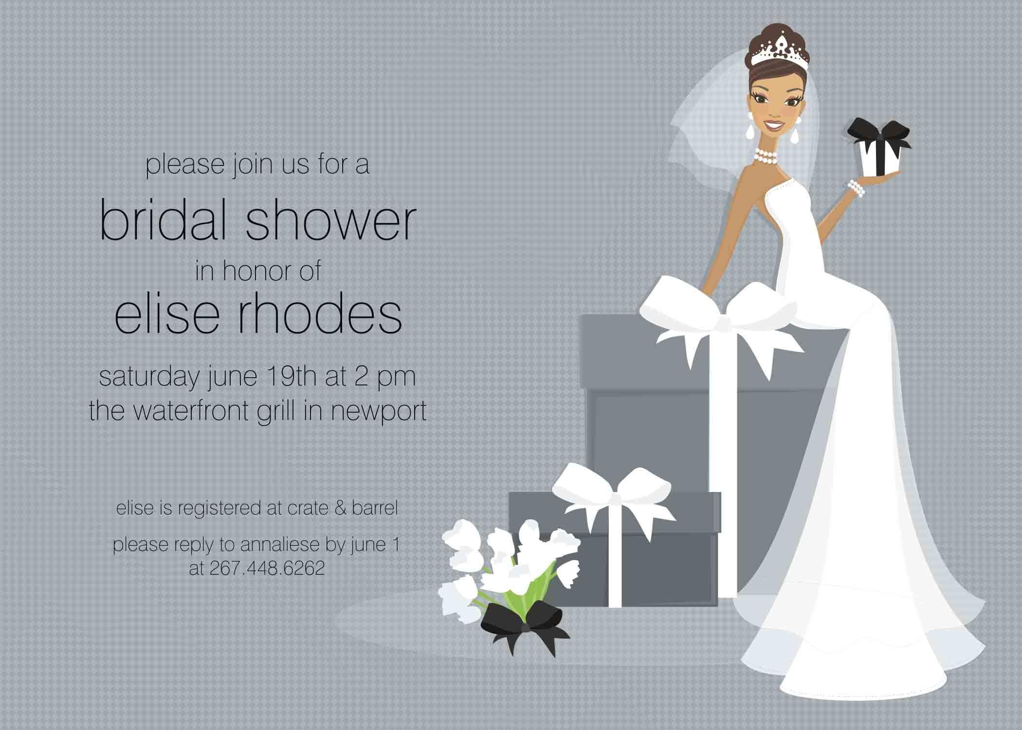 Free Bridal Shower Invitation Templates Wedding Free
