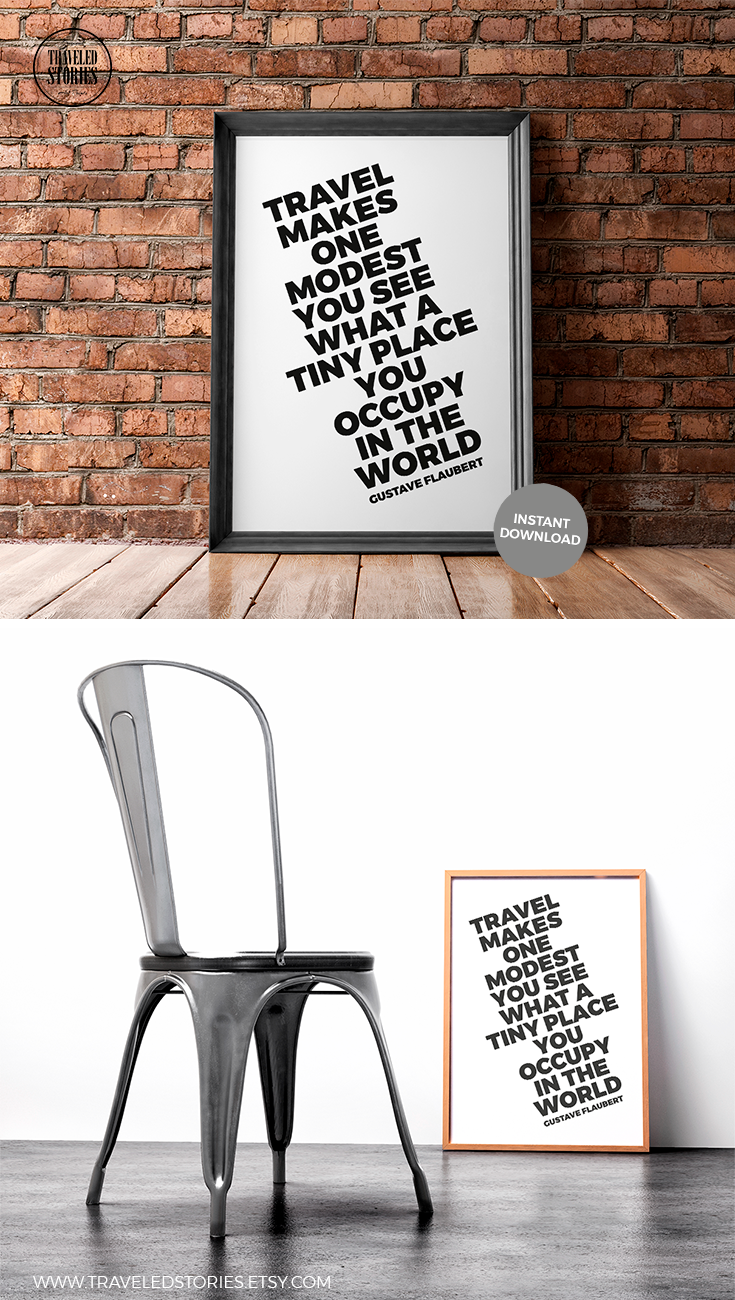 Travel Quote Wall Art Printable Quote Poster