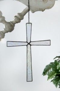 Crosses Hold Deep Meaning And Inspire People And When Light Shines Through This Glass Art Cross It Akes This Symbol Even Glass Art Glass Ornaments Ornaments