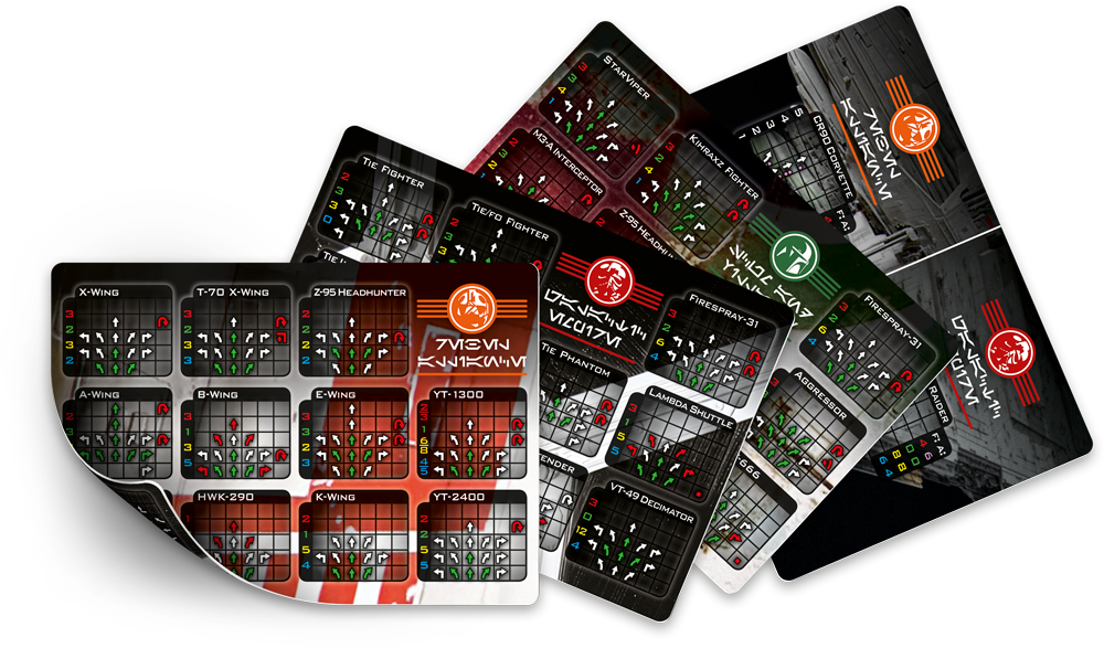 Page 1 of 6 - Handy all-ships-in-one maneuver reference card. Ready for print! - posted in X-Wing: The gaming area gets cluttered easily, and the solutions Ive seen for referencing ship maneuvers, are less than optimal. Ive made these double-sided reference cards instead, for your printing leisure.Its the same size as the ship cards, so they will fit right in with your stash. I personally prefer to print them Rebel-Empire and Scum-Epic. Theres been some requests to...
