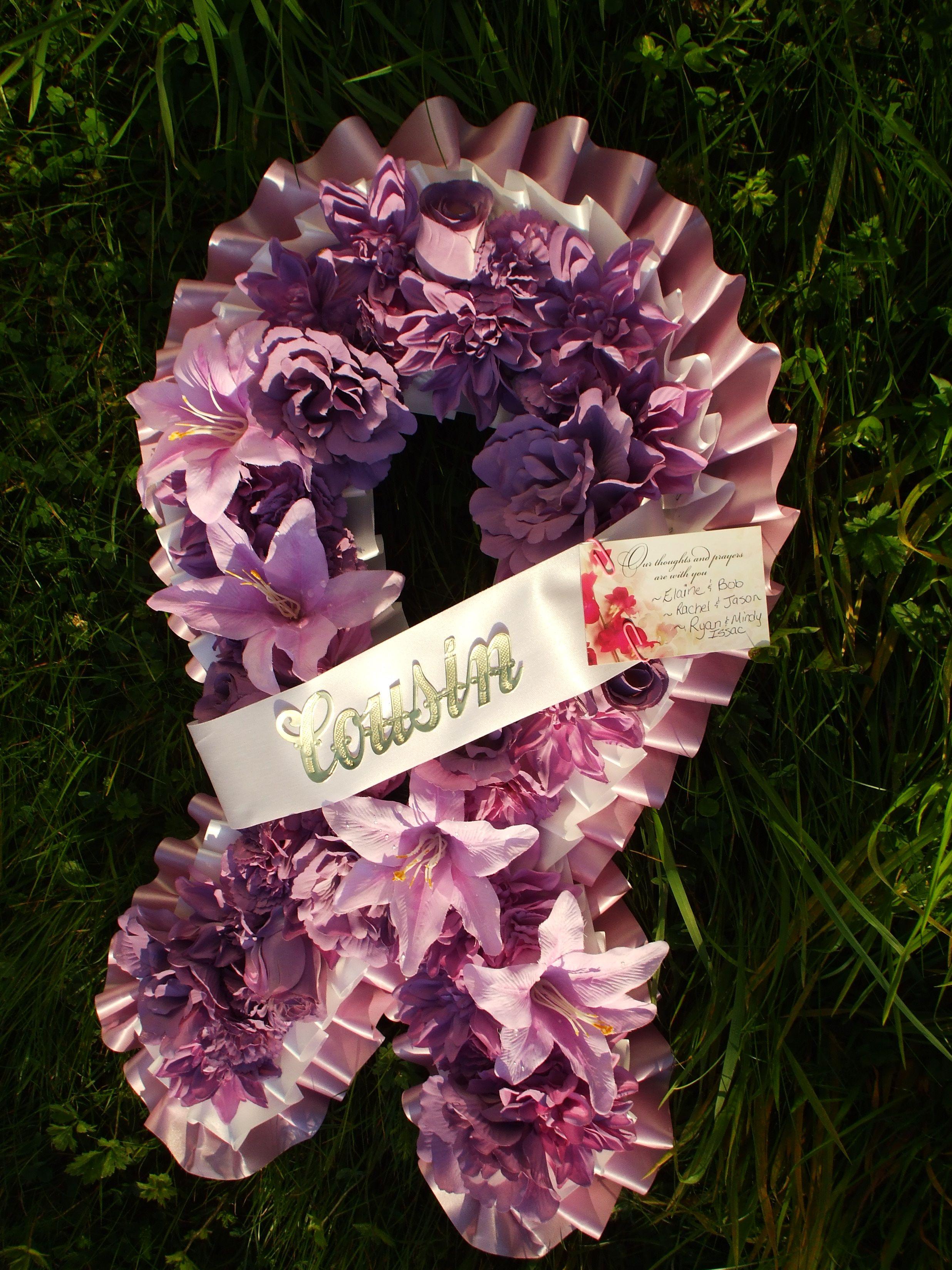 cancer ribbon arrangement