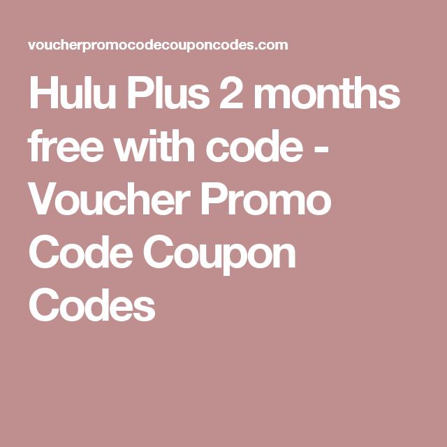 Hulu promo code 2 months