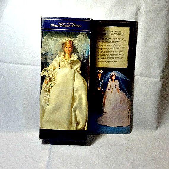 Vintage Princess Diana Doll, 1981 Royal Wedding, Lady Diana Wedding ...