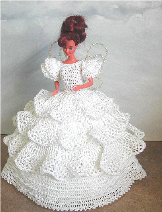 Crochet Fashion Doll Barbie Pattern- #495 FANTASY FAIRY | Cuadrados ...