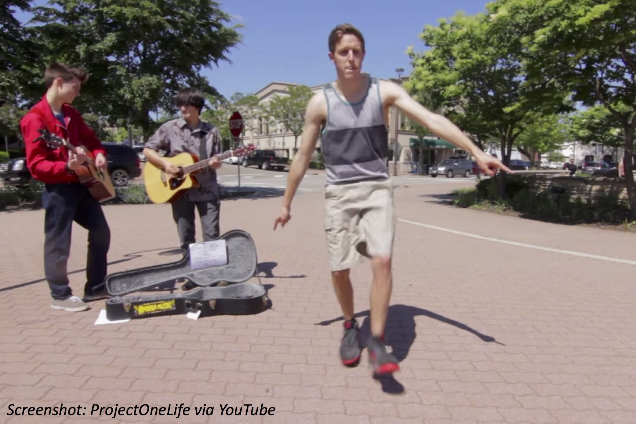 1 man takes his dance routine around the world in this smooth-moving math story!