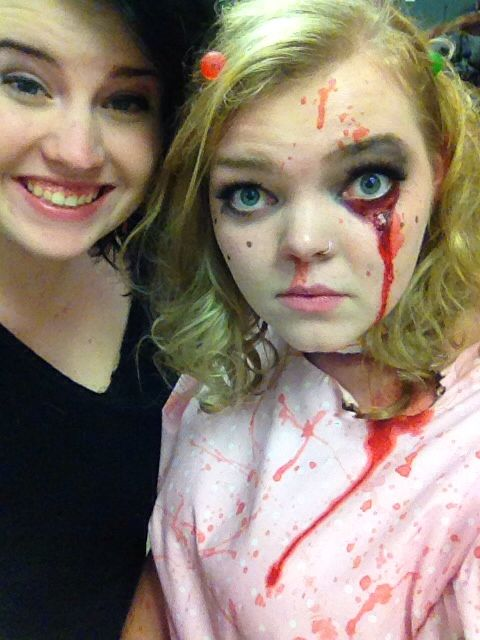 Ellie and I at my style competition for my school