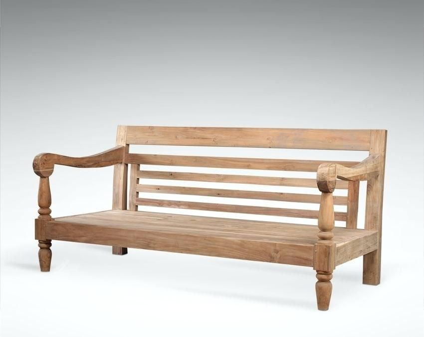 Wooden Sofa Set Without Cushion Or